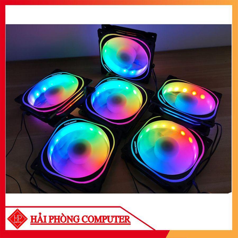 FAN LED – QUẠT TẢN NHIỆT MÁY TÍNH COOLMOON K3 LED RGB (4 Fan Pack / Kèm điều khiển)