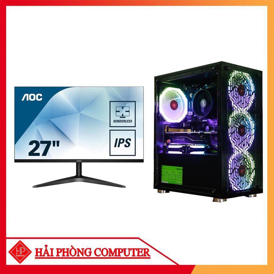 TRỌN BỘ PC GAMING HPC05 + MÀN HÌNH AOC 27INCH IPS